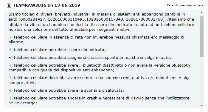seggiolini antiabbandono bambino catania auto toninelli - 4