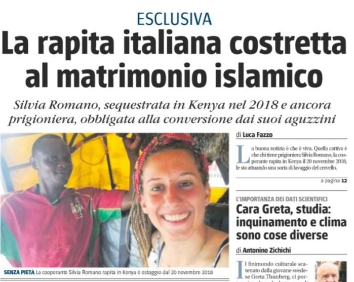 Silvia Romano viva ma