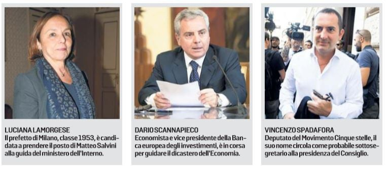 totoministri governo m5s-pd