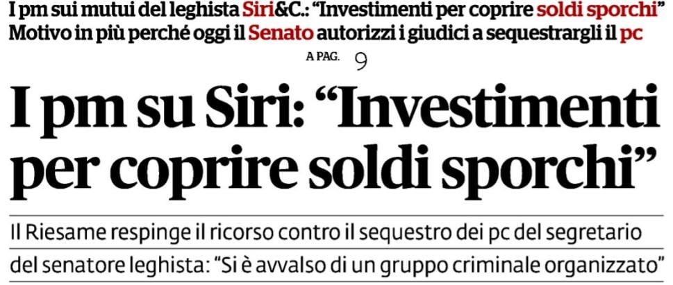 """Armando Siri: il leghista e l'accusa di investimenti """"per coprire soldi sporchi"""""""