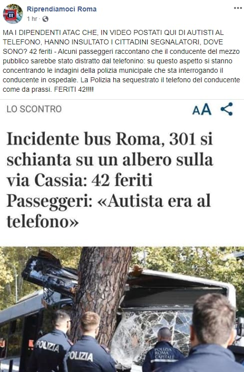 cassia atac incidente conducente telefonino - 1