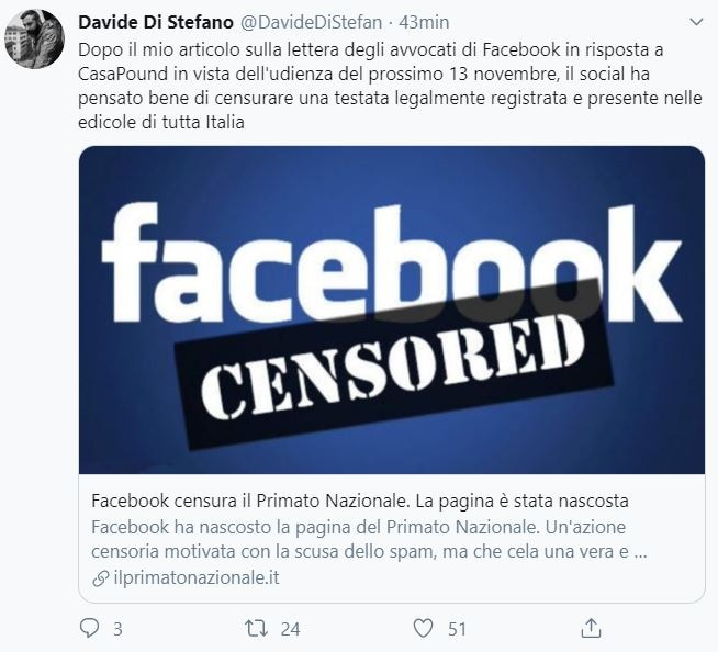 davide di stefano facebook casapound primato nazionale