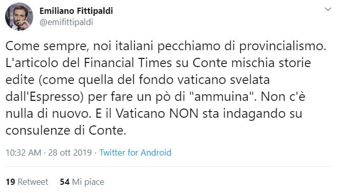 financial times giuseppe conte