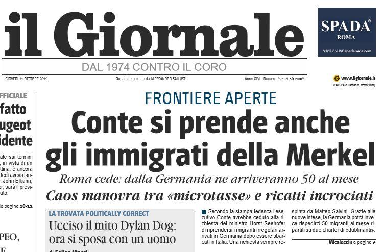 giornale bufala immigrati germania