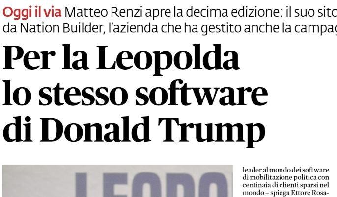 leopolda software trump