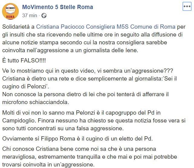 m5s roma cristiana paciocco