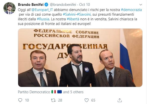 m5s savoini russiagate salvini commissione inchiesta europea -1