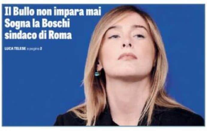 maria elena boschi sindaco di roma