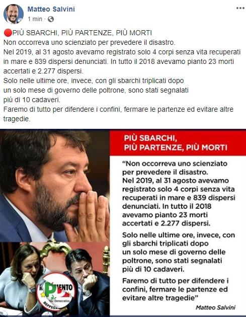 migranti morti lampedusa lega salvini - 11