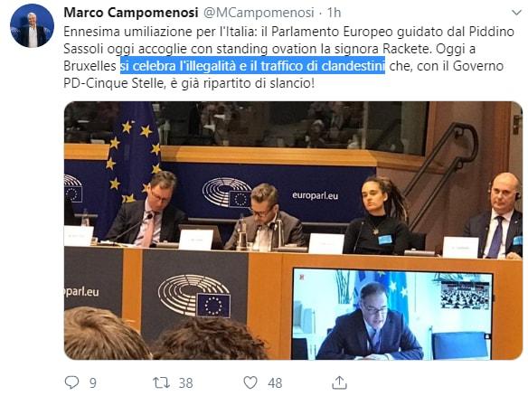 rackete parlamento europeo salvini - 2