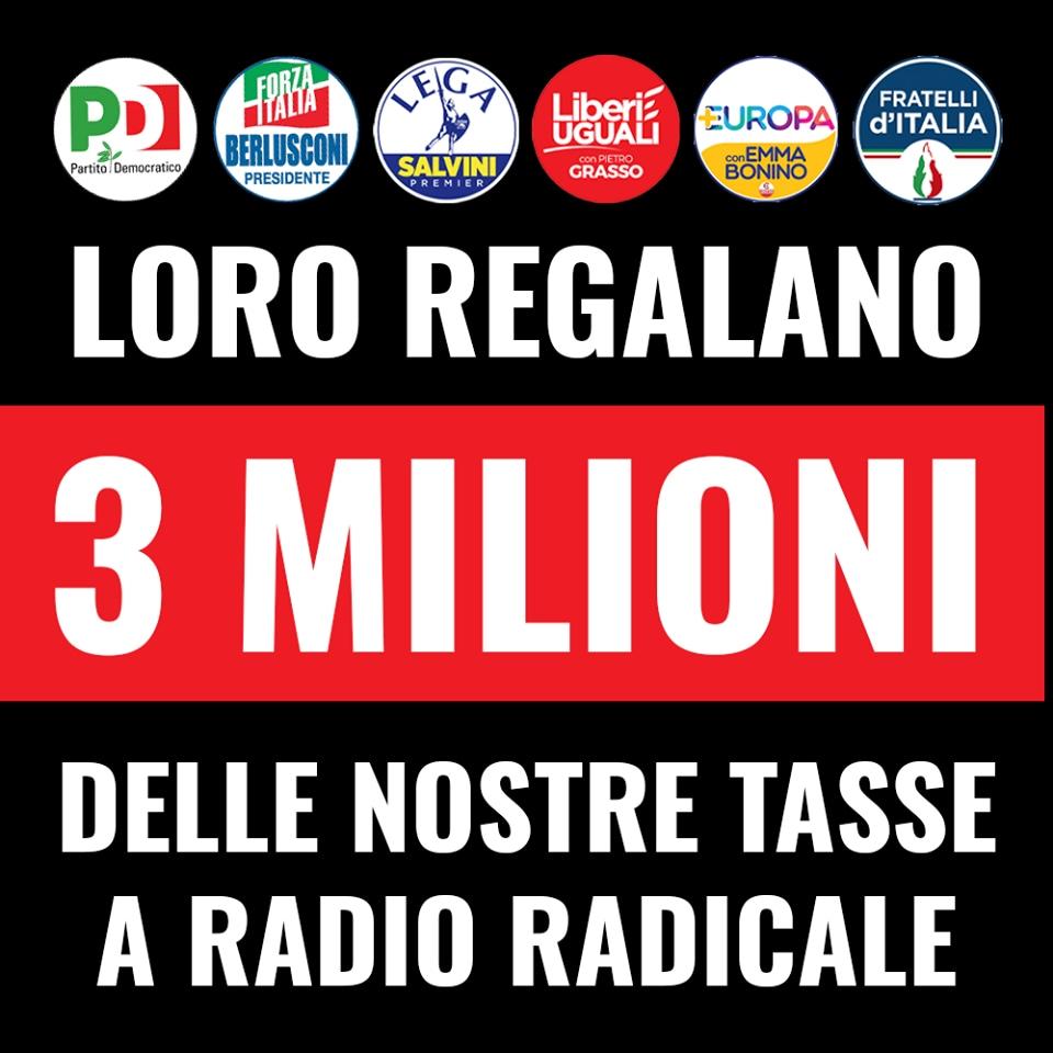 radio radicale 8 milioni m5s