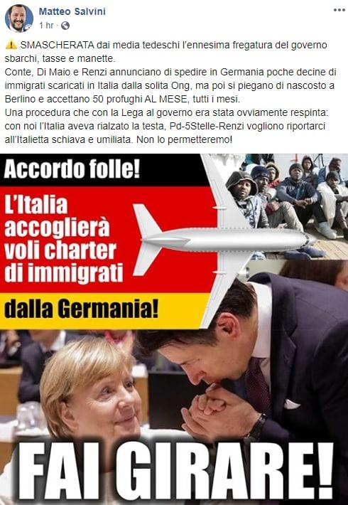 salvini migranti germania charter - 1