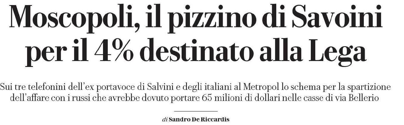 savoini salvini 4% pizzino lega metropol - 2