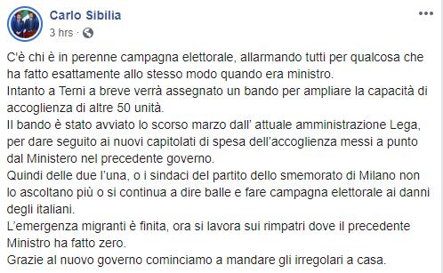 sibilia salvini migranti umbria terni - 1