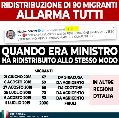 sibilia salvini migranti umbria terni - 2