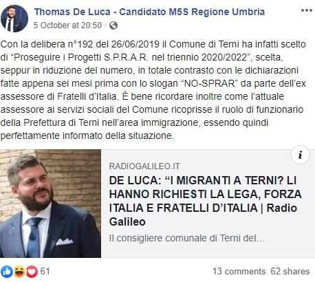 sibilia salvini migranti umbria terni - 4