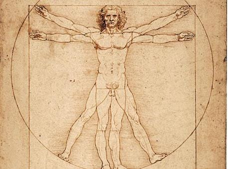 Leonardo Da Vinci, Uomo Vitruviano