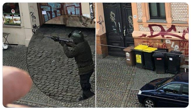 video sparatoria di halle