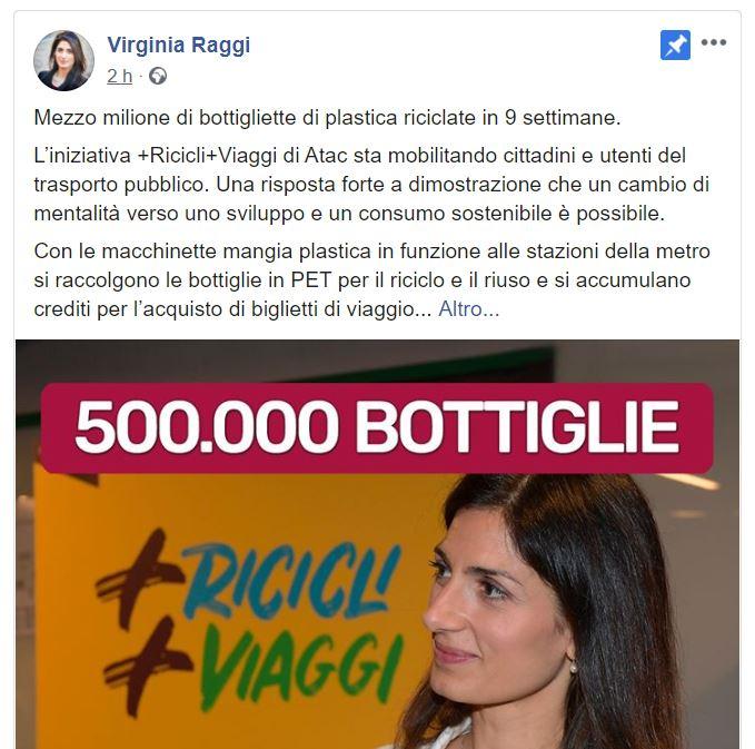 virginia raggi ama roma metropolitane