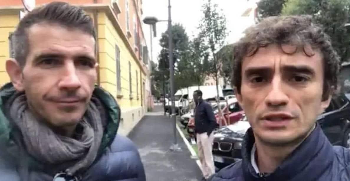 Marco Lisei e Galeazzo Bignami di Fratelli d'Italia video gogna bologna