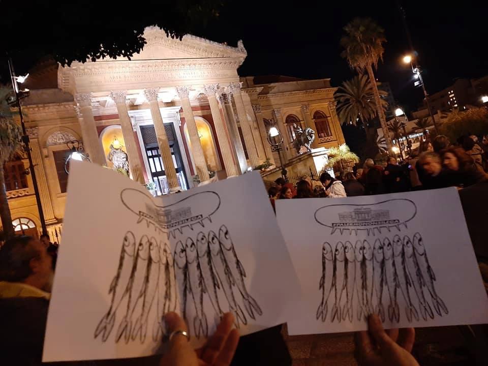 Sardine: il movimento 'sbarca' a Palermo