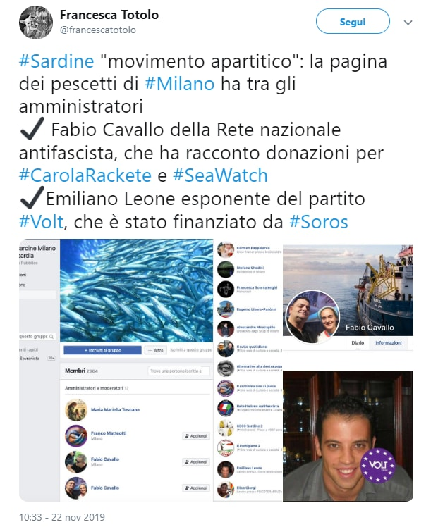 dama sovranista totolo sardine - 2