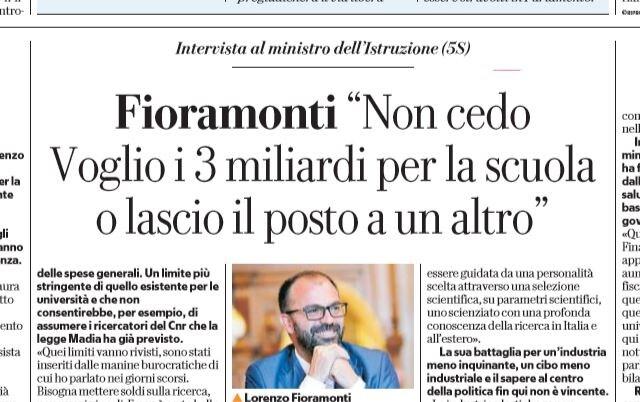 dimissioni lorenzo fioramonti