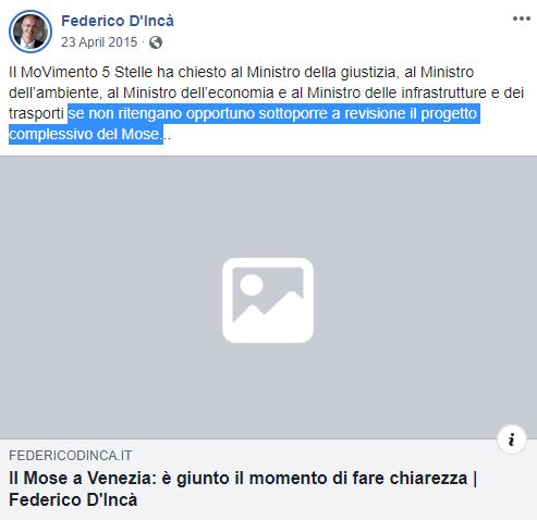 d'inca m5s mose venezia - 4