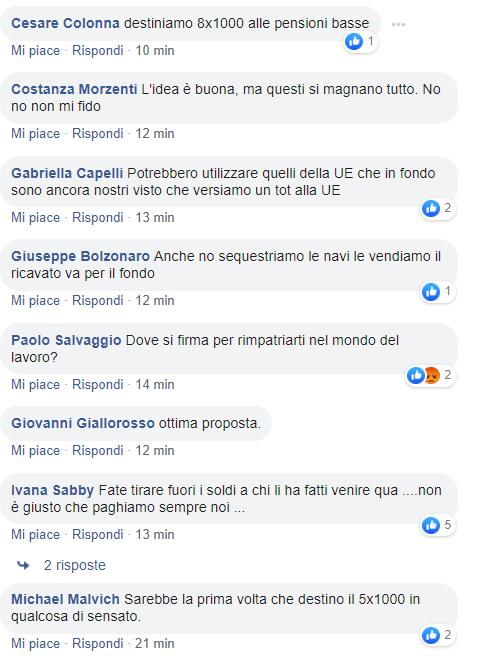 emendamento rimpatri 5 per mille fratelli d'italia 1