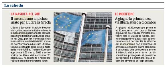 esm mes meccanismo europeo di stabilità european stability mechanism