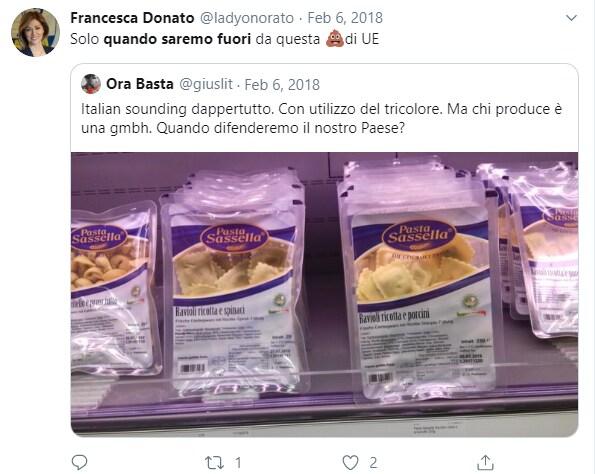 francesca donato uscita euro UE - 9
