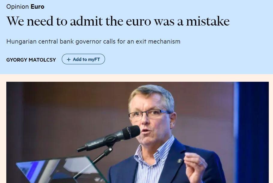 gyorgy matolcsy financial times eurp