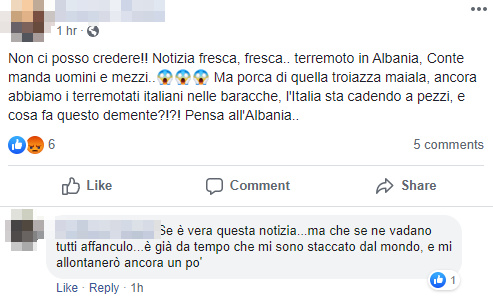 lega salvini albania terremoto - 2