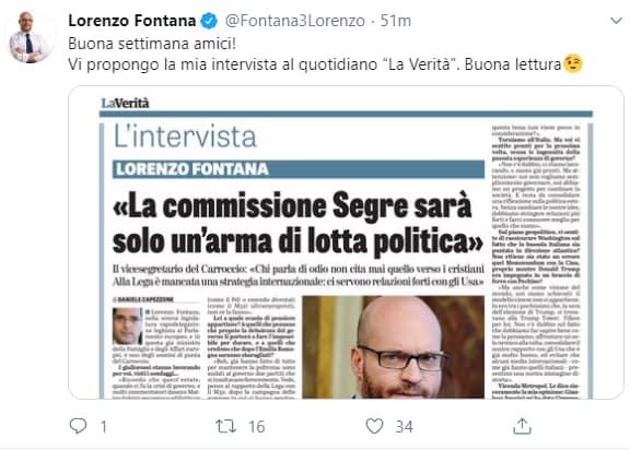 lorenzo fontana verona segre hellas razzismo -2