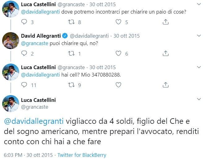 Luca Castellini |  il daspo all'Ultras del Verona che inneggiava a Hitler |  «Ho perso il