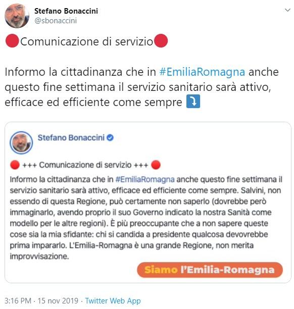 salvini bonaccini borgonzoni