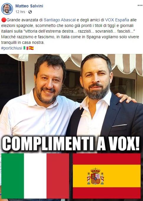 salvini vox spagna abascal - 1