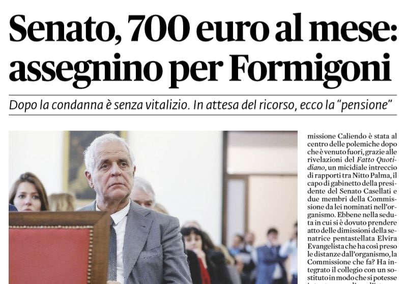 senato 700 euro formigoni