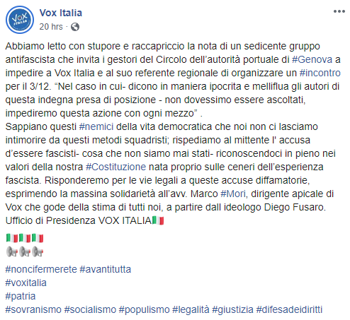 vox italia genova fascisti cap portuali - 1
