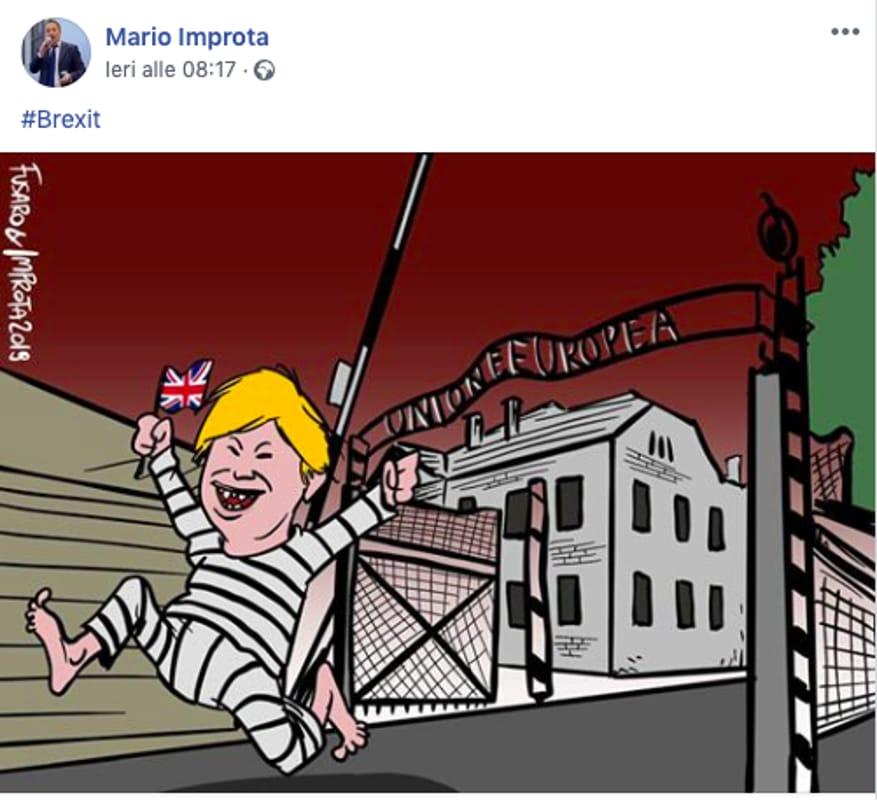 MARIONE VIGNETTA AUSCHWITZ UNIONE EUROPEA
