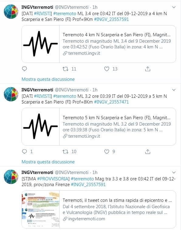 Terremoto a Firenze 9 dicembre 2019 1