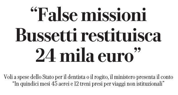 bussetti 24mila euro viaggi