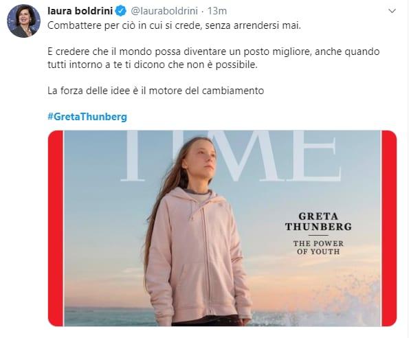 """Risultati immagini per Greta Thunberg è """"Persona dell'Anno"""""""