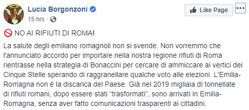 lucia borgonzoni rifiuti roma - 1