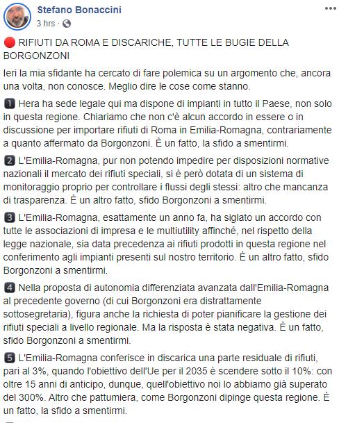 lucia borgonzoni rifiuti roma - 3