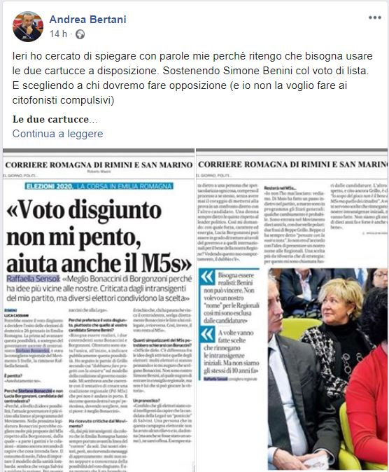 Il voto disgiunto per Bonaccini tra M5S e Forza Italia
