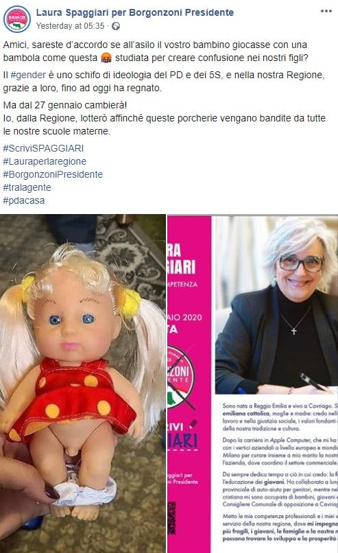 bambola trans laura spaggiari borgonzoni fake - 1