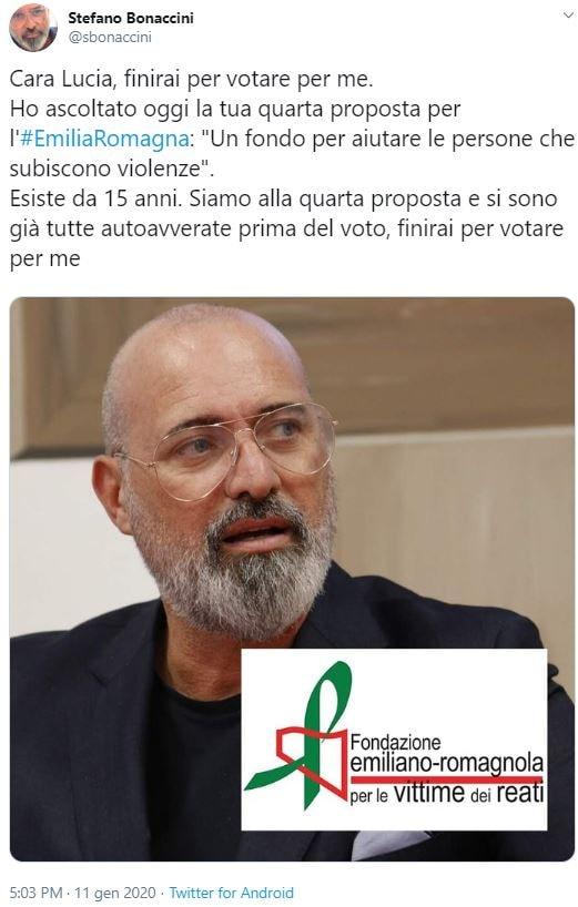 borgonzoni fondo vittime violenza emilia romagna