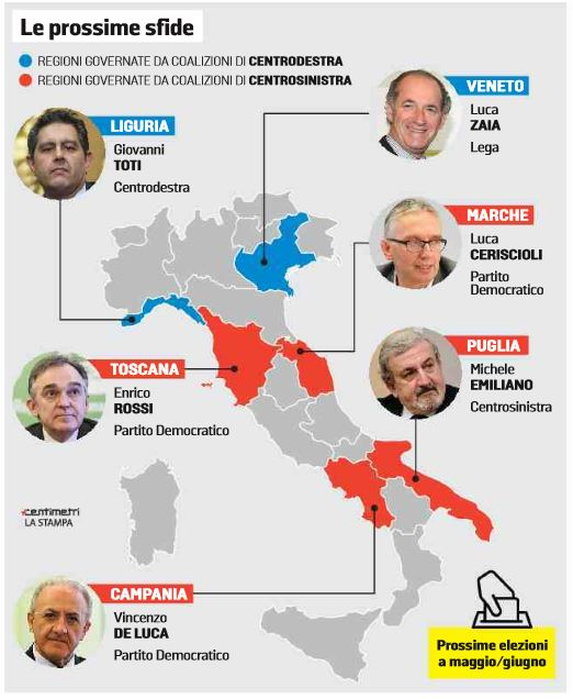 elezioni regionali maggio giugno