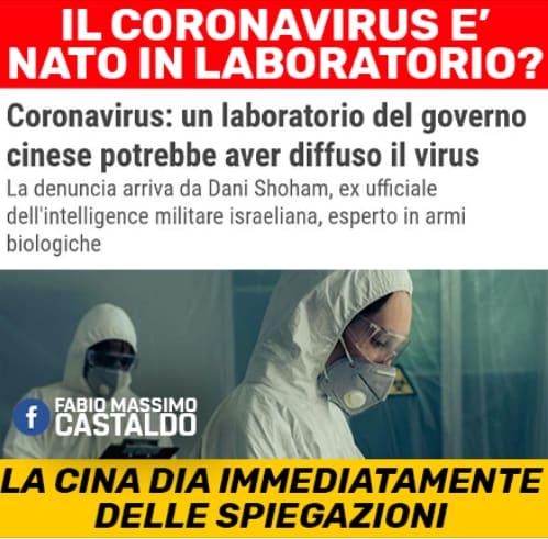 fabio massimo castaldo coronavirus complotto laboratorio - 2